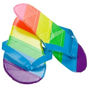 Rainbow Flip Flops