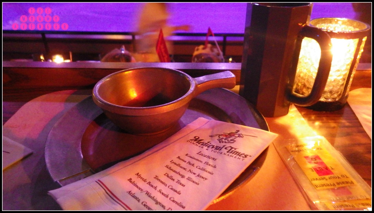 table setting at Medieval Times