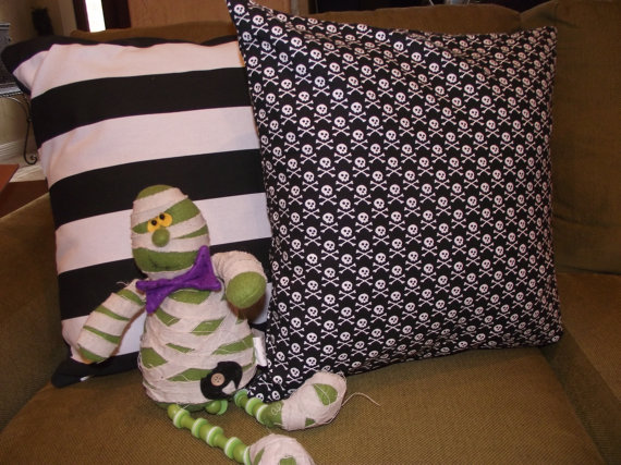 Halloween pillows by WhimsicalDesignsByMe on Etsy