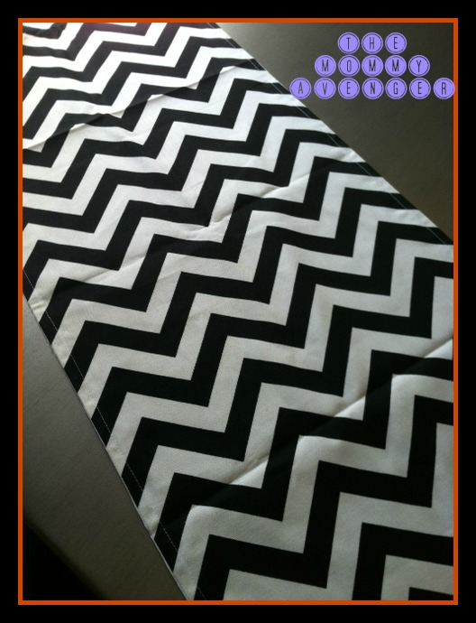 Chevron table runner from WhimsicalDesignsByMe on Etsy