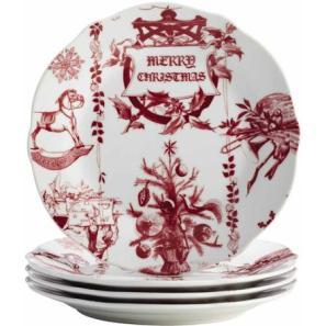Bonjour Yuletide Garland plates