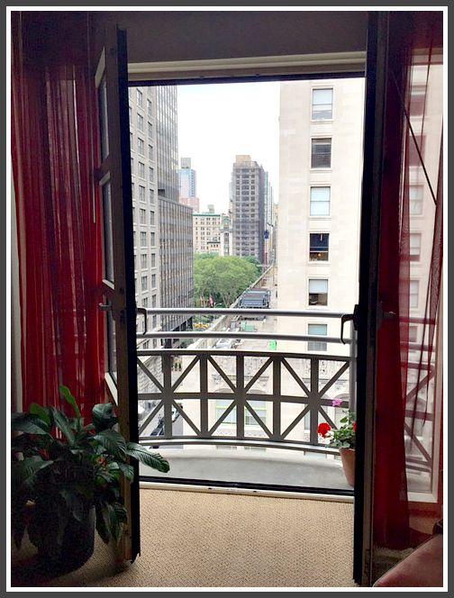 balcony hotel giraffe