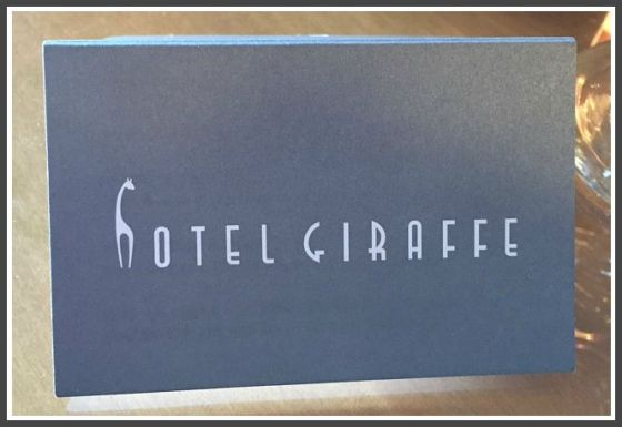 hotel giraffe sign