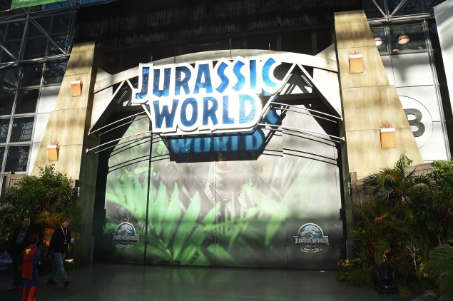 NEW YORK, NY - OCTOBER 10: Jurassic World Gates at New York Comic Con in celebration of the upcoming Blu-ray and DVD release at Jacob Javits Center on October 10, 2015 in New York City. (Photo by Ilya S. Savenok/Getty Images for Universal Pictures Home Entertainment)