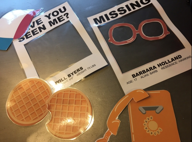 Stranger Things printable photo props