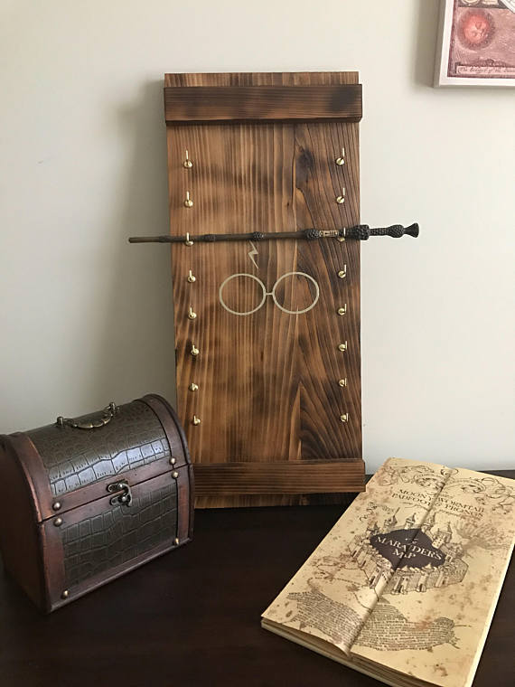 Harry Potter wand display