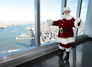 "NEW YORK, NY - NOVEMBER 17: One World Observatory opens ""Winter ONEderland"" and offers unique holiday destination downtown on November 17, 2017 in New York City. (Photo by Cindy Ord/Getty Images for One World Observatory )"